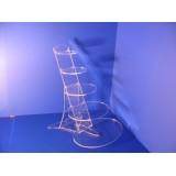 Expositor bisutería de metacrilato transparente 5 bases ovaladas en alturas collar,pendiente,pulsera etc...
